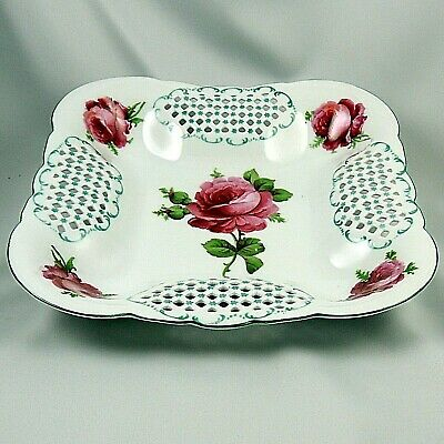 Victoria Austria - Schmidt & Co. ~ Reticulated Bowl - Roses