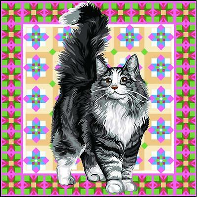 SEG de Paris Tapestry/Needlepoint Canvas – Angora Cat