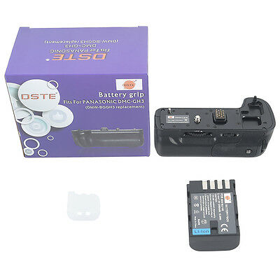 DSTE Pro DMW-BGGH3 Battery Grip + DMW-BLF19 Battery for Panasonic Lumix DMW-GH3