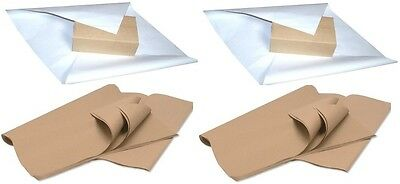 """Brown White Parcel Wrapping Packing Kraft Paper Sheets 20 x 30"""" 500 x 750mm"""