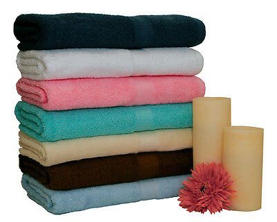 2 LUXURY COMBED BATH TOWELS 100% COTTON - LARGE -SOFT AND ABSORBENT NEW