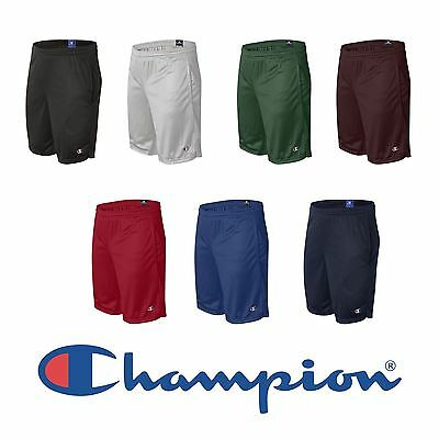 Champion Mens Long Mesh Gym Shorts with Pockets Size S-2XL 81622 SPORT ATHLETES