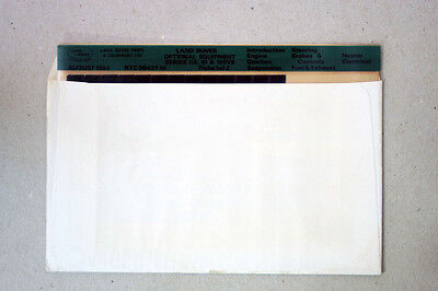 LANDROVER OPTIONAL EQUIPMENT - Set of 2 MICROFICHE SLIDE  (MF28)
