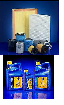 206 1.6 HDI Air, Oil & Fuel filters + 5ltr 5w30 Longlife Motor Oil 2004 On>>