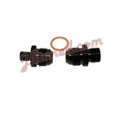 Bosch 044 Fuel Pump Inlet / Outlet Fittings Black -8  AN 8
