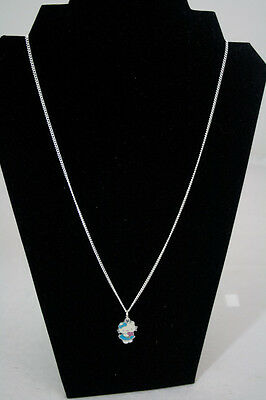 Women Cute Hello Kitty Holding Flowers Necklace Blue or Pink