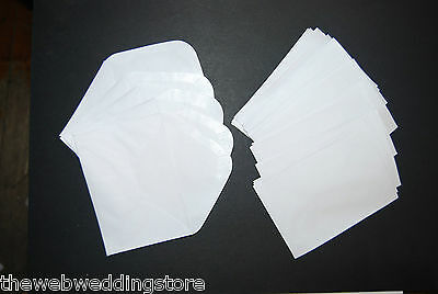 "Small white envelopes 4.5"" x 3""  Nice curved flap - Wedding - Christening - Gift"