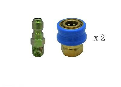 Pressure Washer Quick Release Compact1 /4M 1/4F Coupling Twin Pack