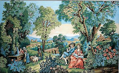 Margot de Paris Tapestry/Needlepoint Canvas - Romance in the Greenery