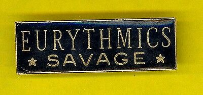 Eurythmics Annie Lennox 1987 DELUXE cloisonne uk badge button pinback PP SAVAGE