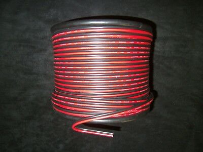 10 Gauge Red Black Zip Wire 50 Ft Awg Cable Power Ground Stranded Copper Car