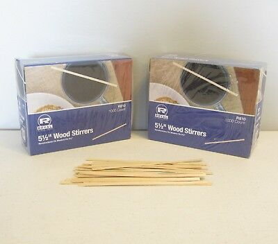 "2000 Wood Coffee Stirrers 5.5"" Stir Wooden Craft Popsicle Cupcake Sticks"