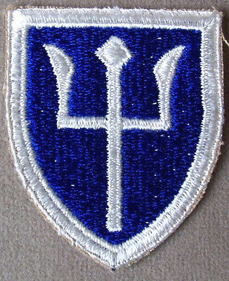 US Army 97th Infantry Division WW II Full Color Cut Edge Patch / NOS 1945