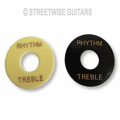 Guitar Switch Plate Rhythm / Treble Black or Ivory For Les Paul Etc