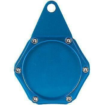 Bikingear Anodised Blue Hexagon Motorcycle Motorbike Scooter Atv Tax Disc Holder