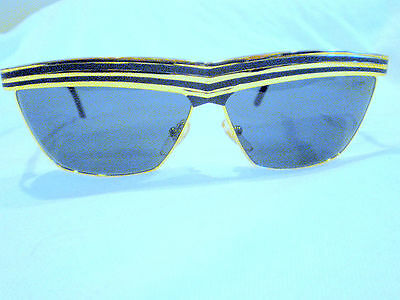 Vintage Charme Celebrity  Sunglasses Gold Black Tortoise Made In  Italy