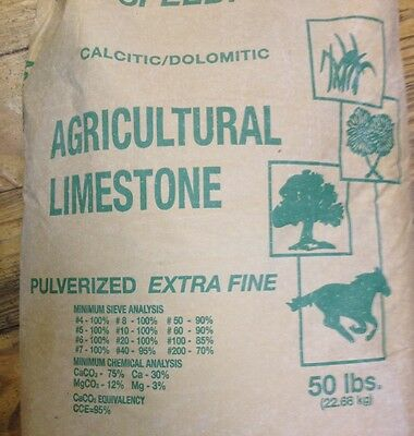 7.5 LB Dolomitic/Calcitic  Extra Fine Pulverized Yard/Garden & Worm Beds Lime