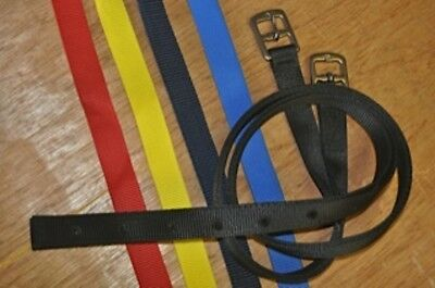 """Childrens Childs Tiny Tots Webbing Synthetic Stirrup Leather 24""""or 36"""" Made UK"""