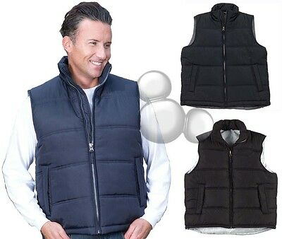 Adults Puffer Vest Size S M L XL 2XL 3XL 4XL 5XL Navy Black Mens Ladies New!
