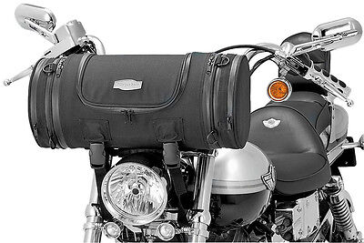 Goldwing Harley Street Motorcycle Custom Roll Bag Kuryakyn Handlebar Bag BLK NEW