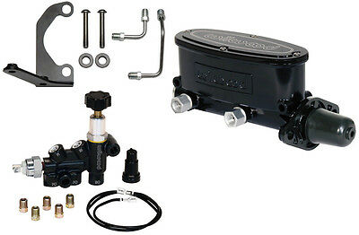 "Wilwood Black Tandem Master Cylinder,1 1/8"",with Combination Proportioning Valve"