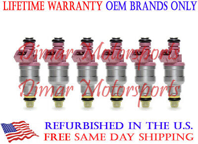 3 Year Warranty - OEM GENUINE BOSCH Fuel Injector Set of 6