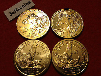 2013 P D Sacagawea Treaty With The Delawares & 2012 Trade Routes Native American