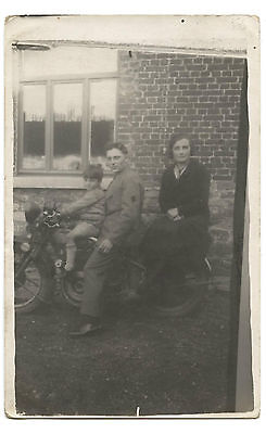 Carte- Photo.moto Ancienne. Former Motorcycle.