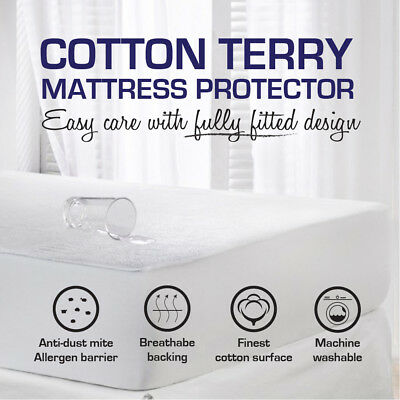 Cot/Single/Double/Queen/King-All Size Fully Fitted Waterproof Mattress Protector