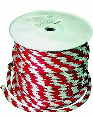 """Wellington Cordage 46411 Derby Red and White Rope 5/8"""" x 200' Roll"""