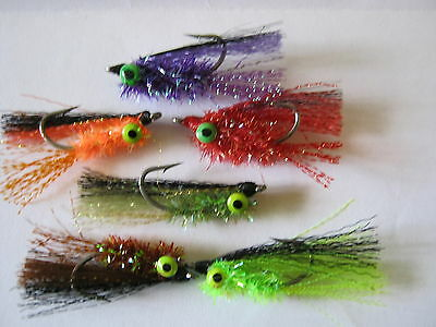 10 Bass Vampire FLY FISHING FLIES SIZE 4,6