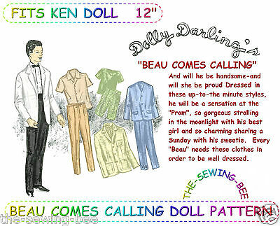 Dolly Darling Beau comes calling Ken -Barbies Boy Toy