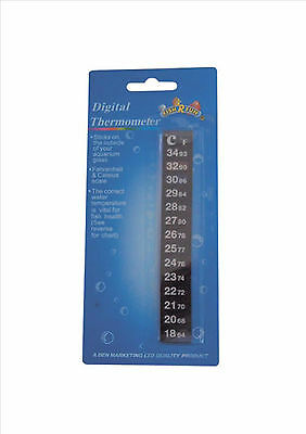Digital Stick On Aquarium Fish Tank Strip Thermometer