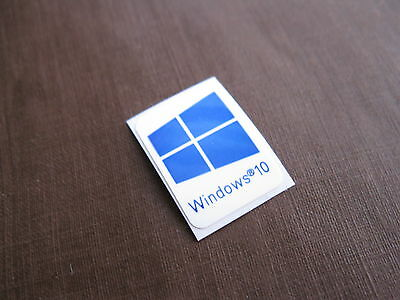 1 PCS Windows 10 Sticker Badge Logo Decal Cyan Color Win 10