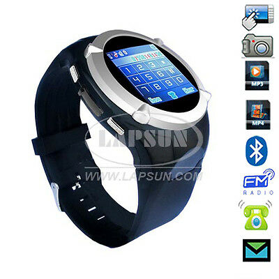 Touch Screen Unlocked GSM Cell Phone Mobile Wrist Watch Hidden Camera MQ998 US