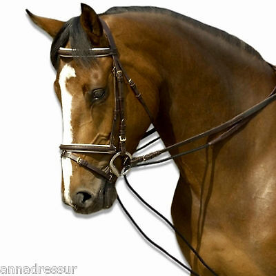 English Leather Draw Reins With Rope Or Elastic Insert Top Quality