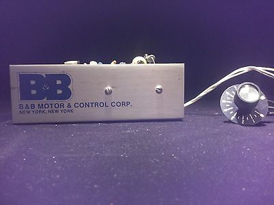 BODINE DC ELECTRIC MOTOR SPEED CONTROLLER MODEL # MR25C