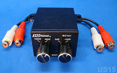 Dual Knob Bass Control Sound Processor Mini Crossover Audio Eq Signal Equalizer