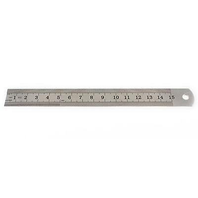 Stainless Steel Pocket Measuring Ruler Scale Rule Double Sided Metric 15cm/6inch