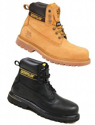 Caterpillar Cat Holton Mens Steel Toe Work/safety Boots/shoes Durable On Ebay!