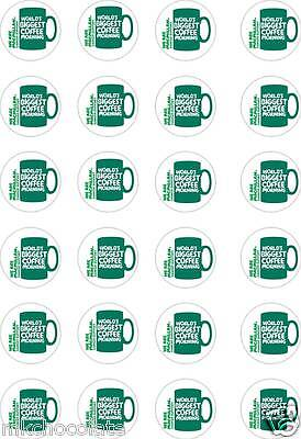 24x PRECUT MACMILLAN A CANCER SUPPORT/CHARITY RICE/WAFER PAPER CUP CAKE TOPPERS