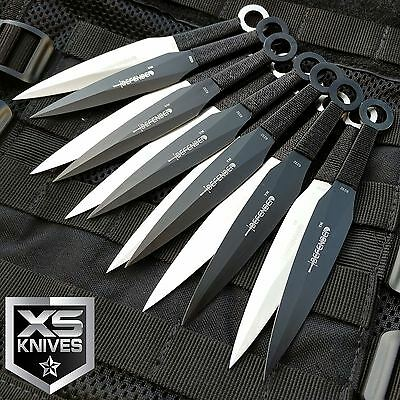 "12pc Naruto Kunai 6"" THROWING KNIVES Ninja Knife Fixed Blade Dagger SET w/Sheath"