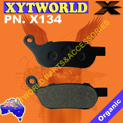 Caltric Front /& Rear Brake Pads for Yamaha Grizzly 660 Yfm660F Yfm-660F 4X4 2002-2004