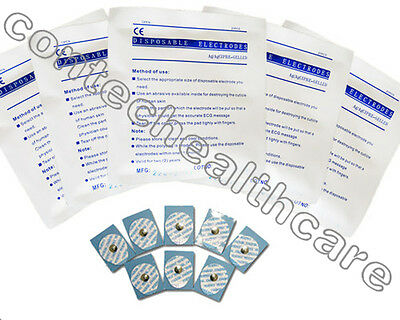 100 pieces (5 packs) of ECG Electrodes for the ECGPatient Monitor from CONTEC