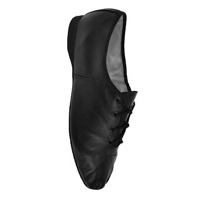 Bloch 462 Essential Black Leather Jazz Shoes with Full Sole
