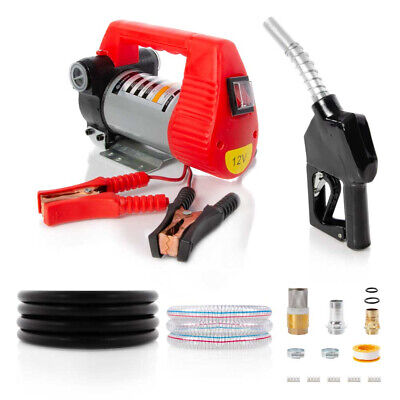 12V Portable Diesel Transfer Fuel Pump Kit 12V - With Automatic Nozzle