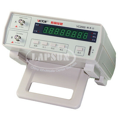 Victor VC2000 Radio High Frequency Counter RF Meter 10Hz-2.4GHz Tester 8 Digit S