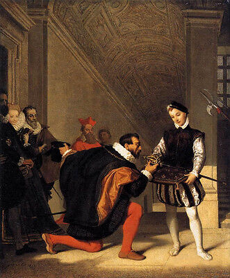 Oil painting Jean Auguste Dominique Ingres - The Sword of Henry IV canvas