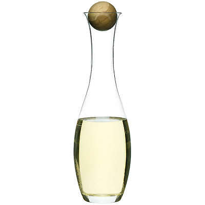 Sagaform Glass Wine or Water Carafe with Oak Stopper, Wine Gift, Decanter