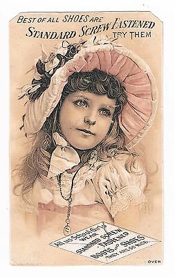 STANDARD SCREW FASTENED Boots and Shoes Victorian Trade Card Early 1900's
